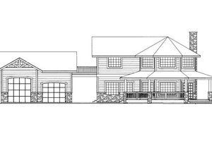 Cabin Exterior - Front Elevation Plan #117-793