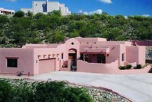 Dream House Plan - Adobe / Southwestern Exterior - Front Elevation Plan #72-145
