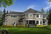 Craftsman Style House Plan - 4 Beds 3.5 Baths 4220 Sq/Ft Plan #132-165 Exterior - Rear Elevation