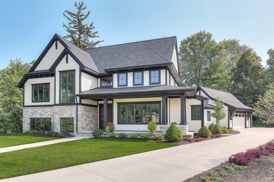 Dream House Plan - Craftsman Exterior - Front Elevation Plan #928-312