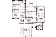 European Style House Plan - 4 Beds 3 Baths 2203 Sq/Ft Plan #63-245 Floor Plan - Main Floor Plan