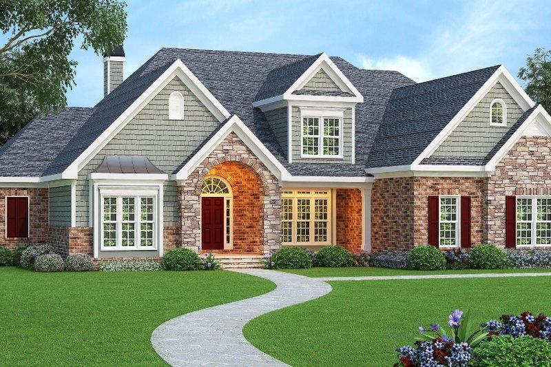 Architectural House Design - European Exterior - Front Elevation Plan #419-163
