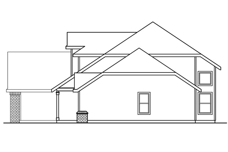 Traditional Exterior - Other Elevation Plan #124-384 - Houseplans.com