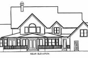 Country Style House Plan - 4 Beds 3.5 Baths 3646 Sq/Ft Plan #27-223 Exterior - Rear Elevation