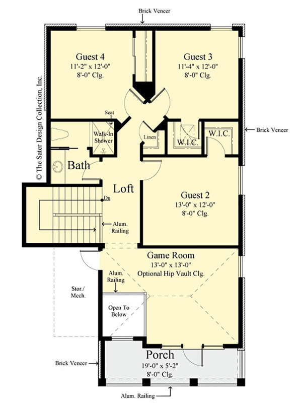 House Plan Design - Traditional Floor Plan - Upper Floor Plan #930-498
