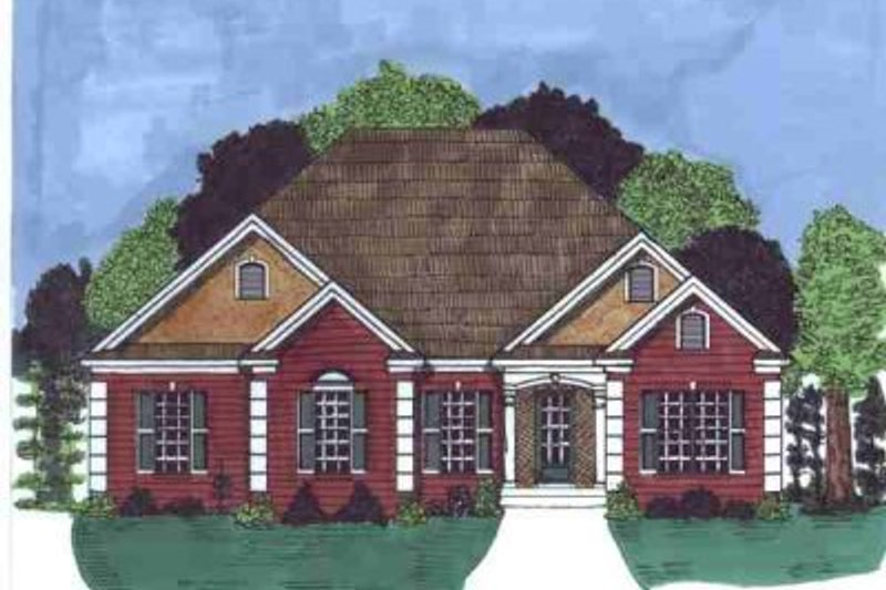 European Style House Plan - 3 Beds 2.5 Baths 2123 Sq/Ft Plan #69-169 Exterior - Front Elevation