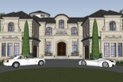 Mediterranean Style House Plan - 4 Beds 6.5 Baths 8129 Sq/Ft Plan #548-19 Exterior - Front Elevation