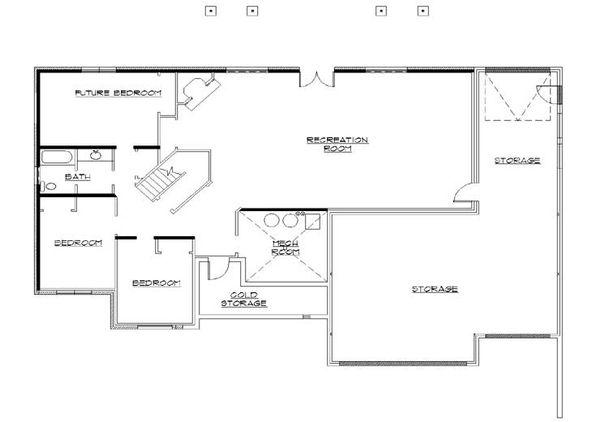 House Plan Design - European Floor Plan - Lower Floor Plan #5-265