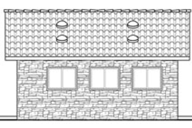 Traditional Exterior - Other Elevation Plan #124-629 - Houseplans.com