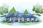 European Style House Plan - 3 Beds 2 Baths 2481 Sq/Ft Plan #36-504 Exterior - Front Elevation