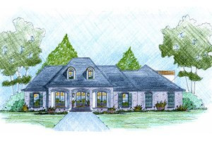 European Exterior - Front Elevation Plan #36-504