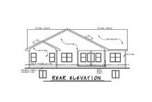 House Plan Design - Craftsman Exterior - Rear Elevation Plan #20-2412