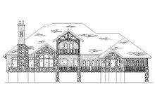 Dream House Plan - European Exterior - Rear Elevation Plan #5-401