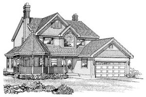 Victorian Exterior - Front Elevation Plan #47-279