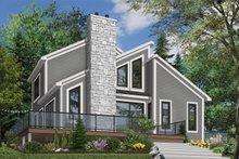 Modern Exterior - Front Elevation Plan #23-2019