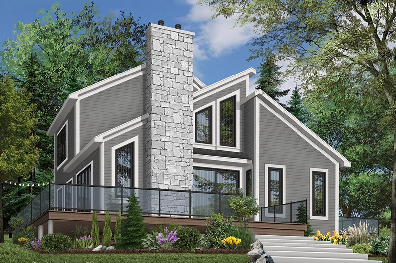 Architectural House Design - Modern Exterior - Front Elevation Plan #23-2019