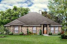 Colonial Exterior - Front Elevation Plan #84-213
