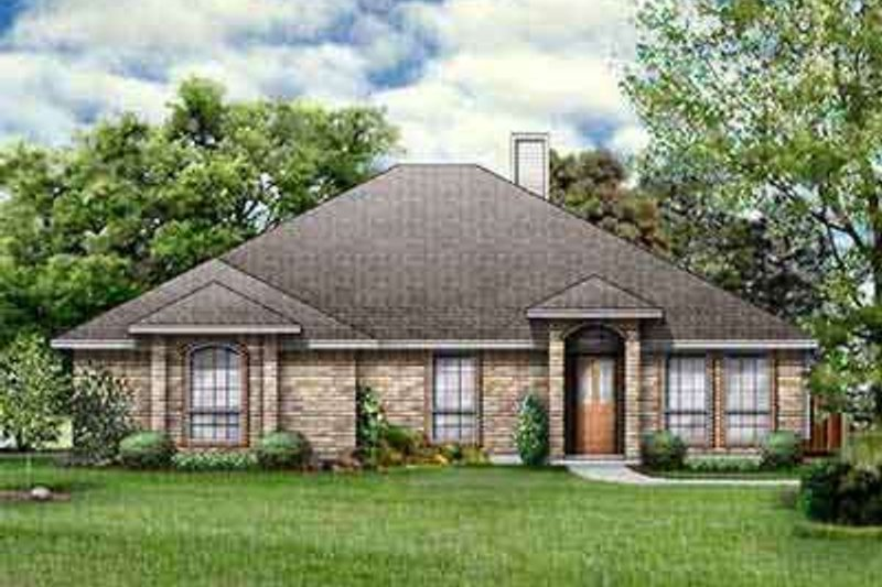 Colonial Exterior - Front Elevation Plan #84-213 - Houseplans.com