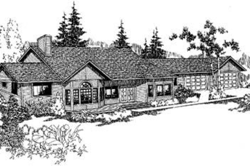 Traditional Exterior - Front Elevation Plan #60-308