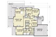 Craftsman Style House Plan - 3 Beds 2.5 Baths 2540 Sq/Ft Plan #1070-5 Floor Plan - Main Floor Plan