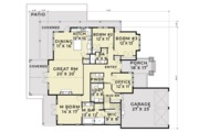 Craftsman Style House Plan - 3 Beds 2.5 Baths 2540 Sq/Ft Plan #1070-5 Floor Plan - Main Floor Plan