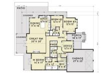 Craftsman Floor Plan - Main Floor Plan Plan #1070-5