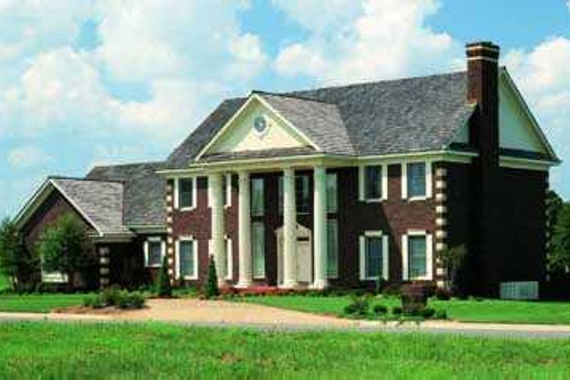 Southern Style House Plan - 4 Beds 5 Baths 4220 Sq/Ft Plan #72-193 Exterior - Front Elevation