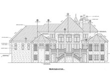 European Exterior - Rear Elevation Plan #20-2318