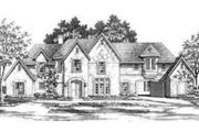European Style House Plan - 5 Beds 6 Baths 5956 Sq/Ft Plan #141-162 Exterior - Front Elevation