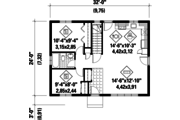 Classical Style House Plan - 2 Beds 1 Baths 768 Sq/Ft Plan #25-4303 Floor Plan - Main Floor Plan