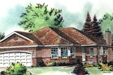 House Blueprint - Traditional Exterior - Front Elevation Plan #18-182