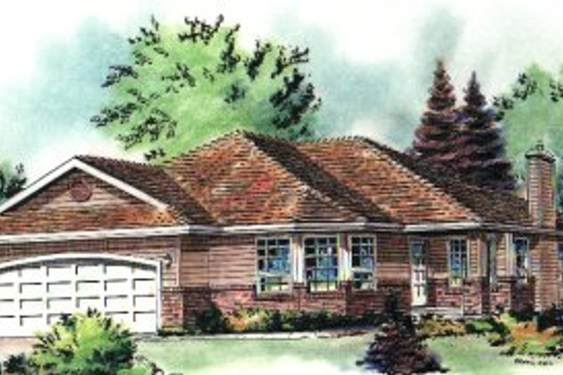 Traditional Exterior - Front Elevation Plan #18-182 - Houseplans.com