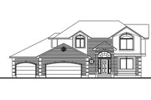 Traditional Exterior - Front Elevation Plan #308-124