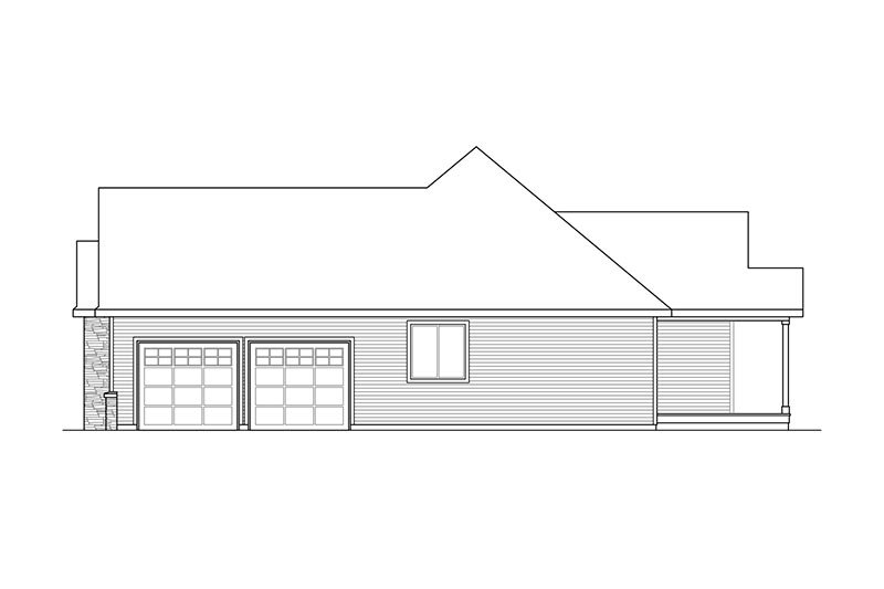 Ranch Exterior - Other Elevation Plan #124-887 - Houseplans.com
