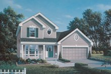 Dream House Plan - Traditional Exterior - Front Elevation Plan #57-163