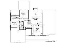 Craftsman Floor Plan - Upper Floor Plan Plan #927-25