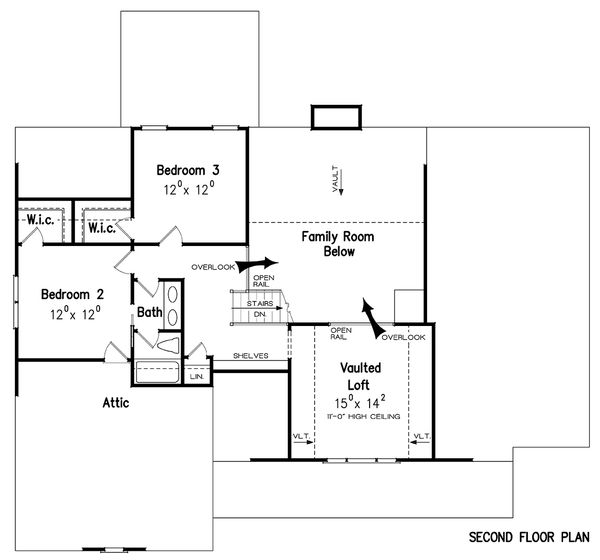 Dream House Plan - Craftsman Floor Plan - Upper Floor Plan #927-25