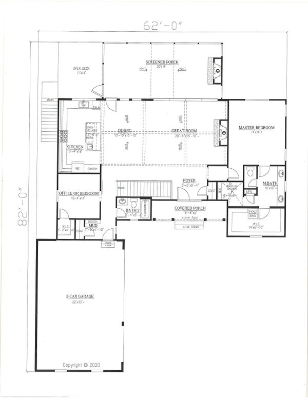 Dream House Plan - Farmhouse Floor Plan - Main Floor Plan #437-126