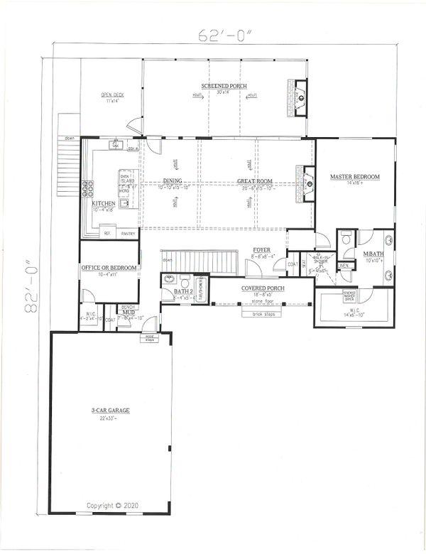 House Plan Design - Farmhouse Floor Plan - Main Floor Plan #437-126