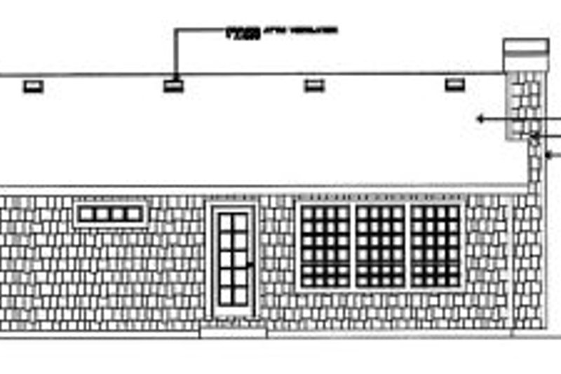 Cottage Exterior - Rear Elevation Plan #92-103 - Houseplans.com
