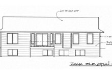 House Design - Traditional Exterior - Rear Elevation Plan #58-193