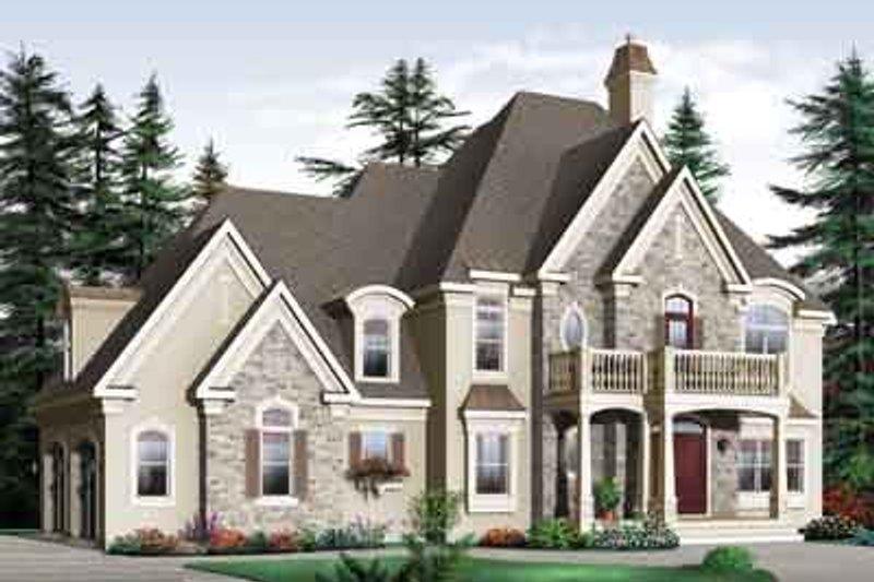 Dream House Plan - European Exterior - Front Elevation Plan #23-667