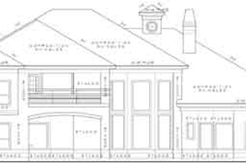 Mediterranean Exterior - Rear Elevation Plan #61-191 - Houseplans.com