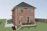 Southern Style House Plan - 3 Beds 2 Baths 1611 Sq/Ft Plan #79-227 Exterior - Rear Elevation