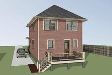Southern Exterior - Rear Elevation Plan #79-227