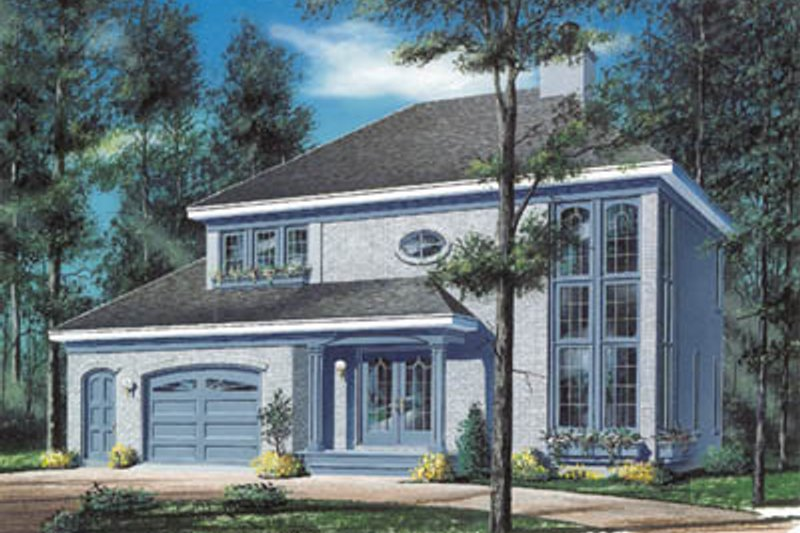 European Style House Plan - 4 Beds 2.5 Baths 1929 Sq/Ft Plan #23-290 Exterior - Front Elevation