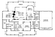 Country Style House Plan - 4 Beds 3.5 Baths 3419 Sq/Ft Plan #929-44 Floor Plan - Main Floor Plan