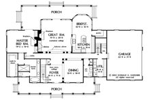 Country Floor Plan - Main Floor Plan Plan #929-44