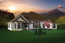 Dream House Plan - Ranch Exterior - Rear Elevation Plan #70-1101