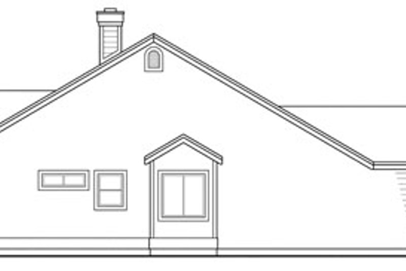 Ranch Exterior - Other Elevation Plan #124-312 - Houseplans.com